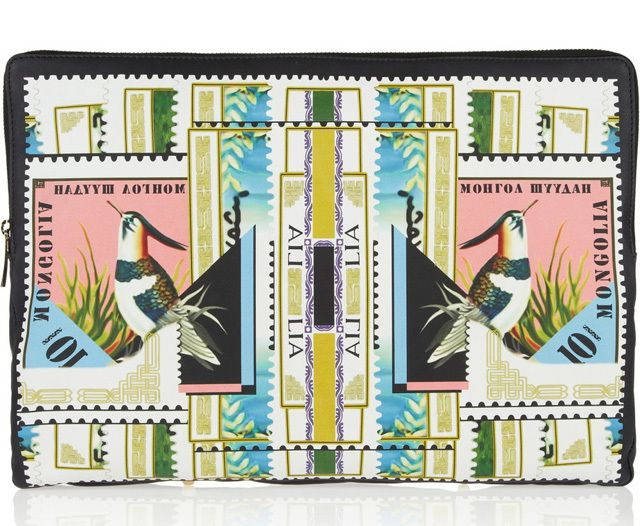 Bolsa estampada Mary Katrantzou - Printed Leather Pouch