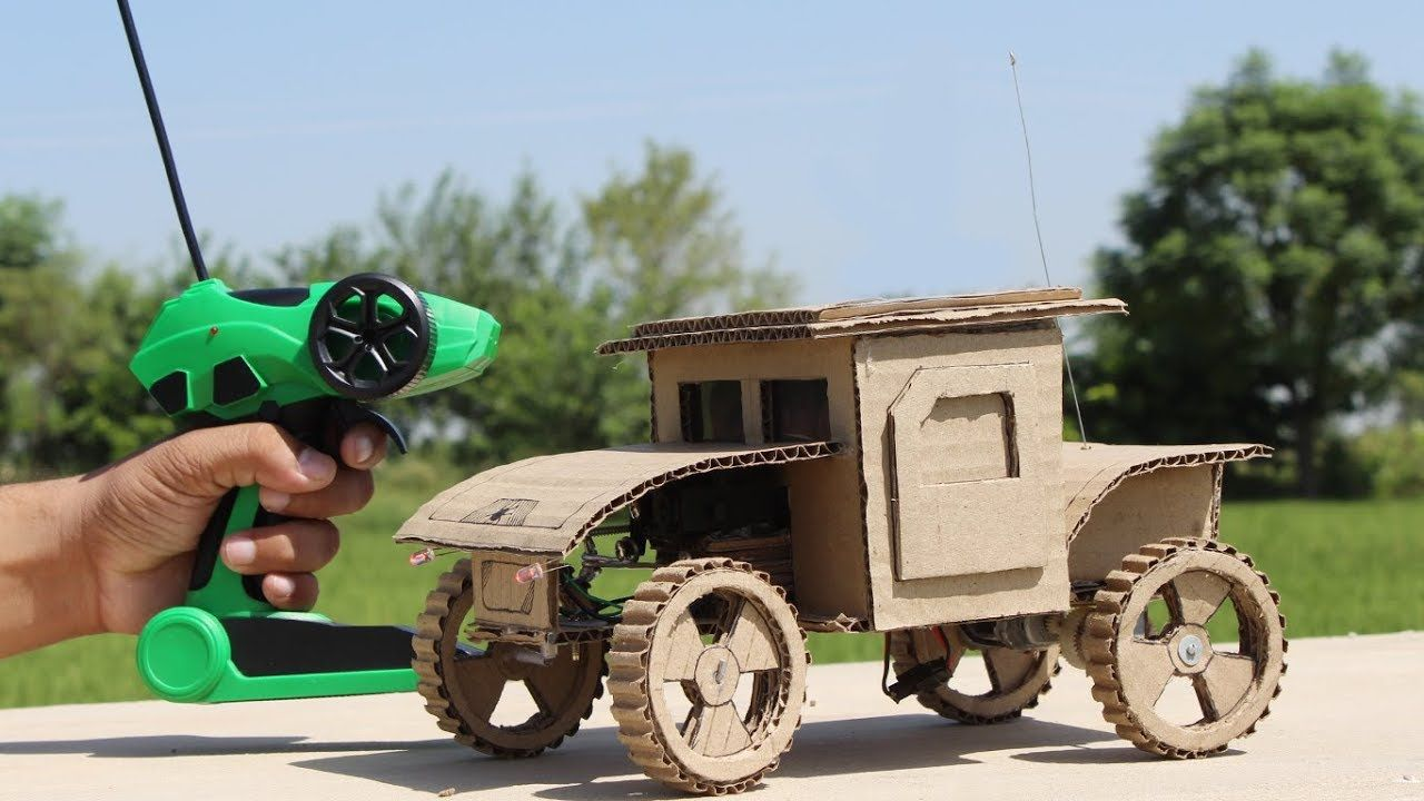 How To Make A Super Fast And Powerful Toy Car From Cardboard Toy