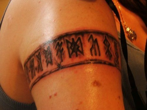 82355e2ee Runic armband Viking Rune Tattoo, Norse Tattoo, Viking Tattoos, Norse  Runes, Viking