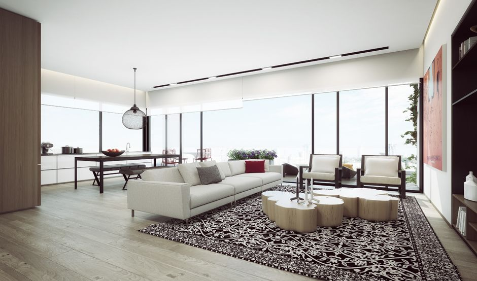 Smoking hot penthouse interior designs visualized penthouses openness and natural light