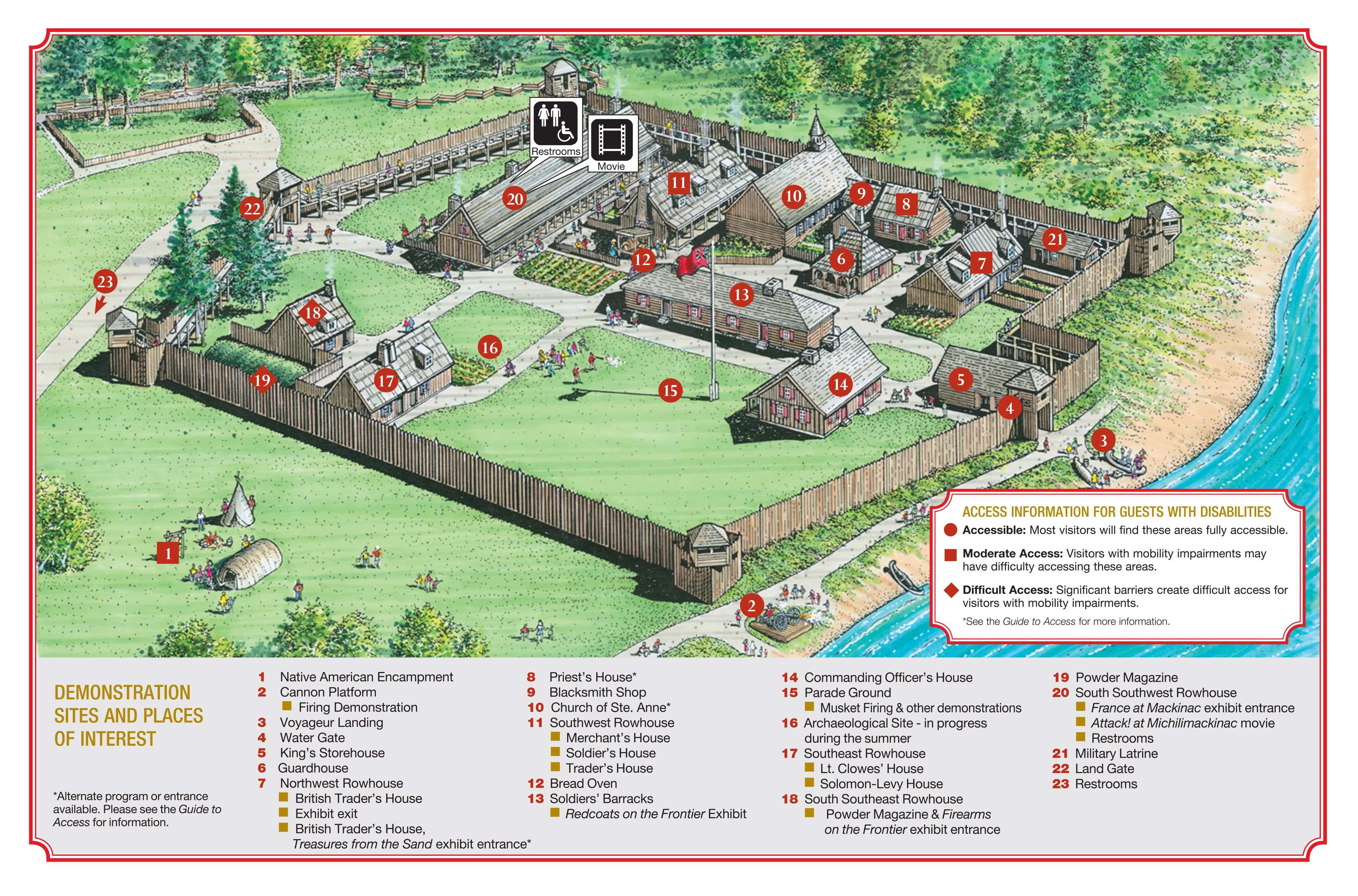 Colonial Michilimackinac Map Web jpg  3908    2580    Colonial     Colonial Michilimackinac Map Web jpg  3908    2580
