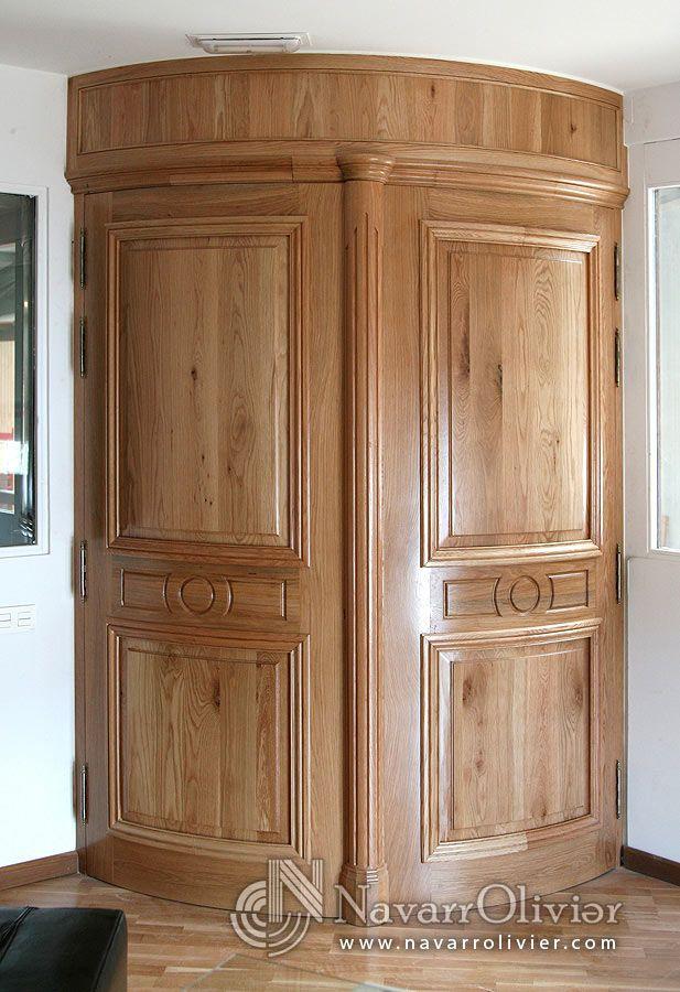 Puertas curvas de madera maciza construcci n estilo for Puertas madera maciza
