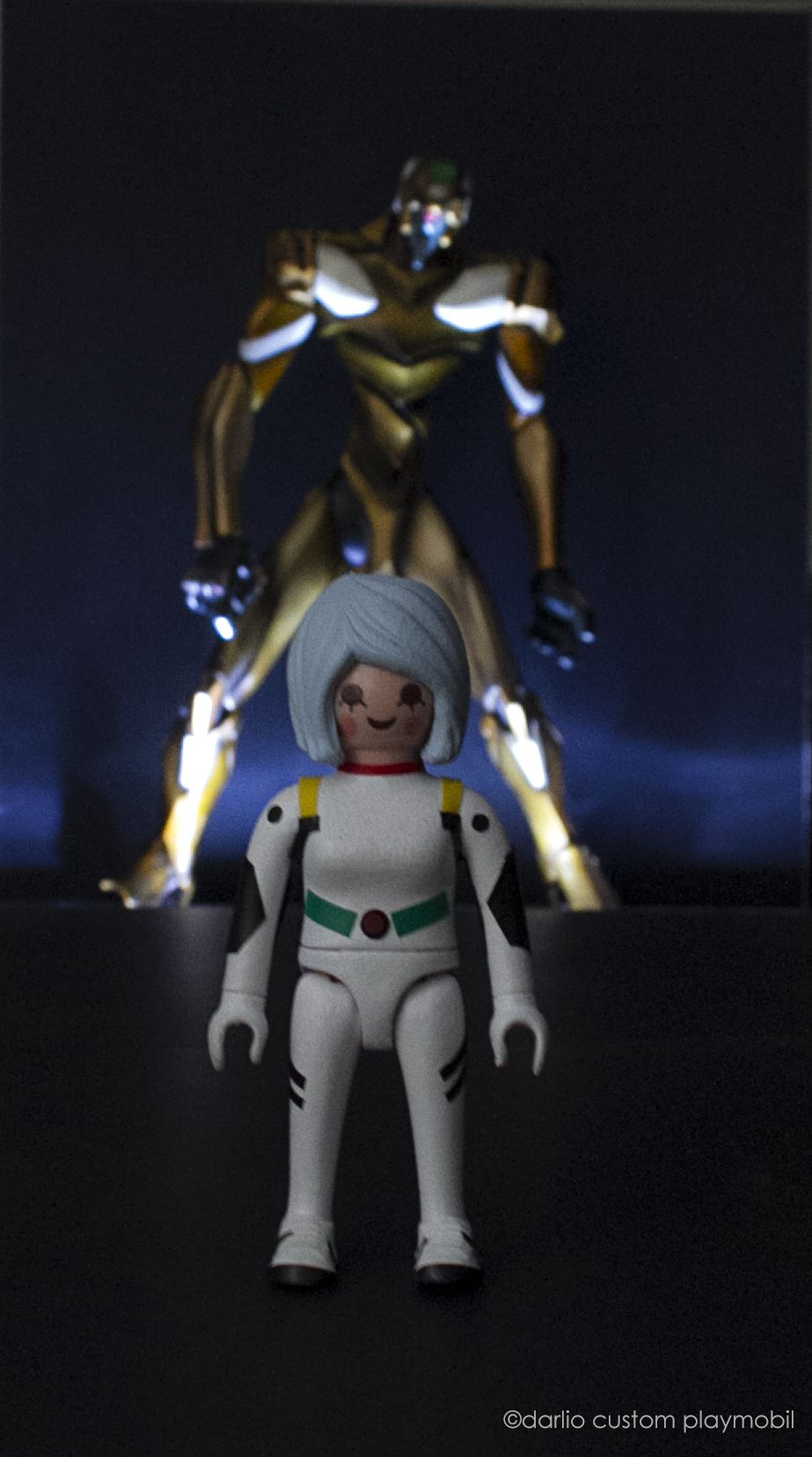 Playmobil Custom Rei Ayanami Evangelion Playmobil Custom  # Muebles Fiction
