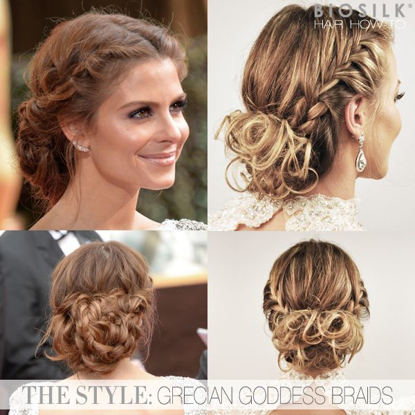 Grecian Wedding Hairstyles: Hair How-To: Maria Menounos' Grecian Goddess Braided Updo