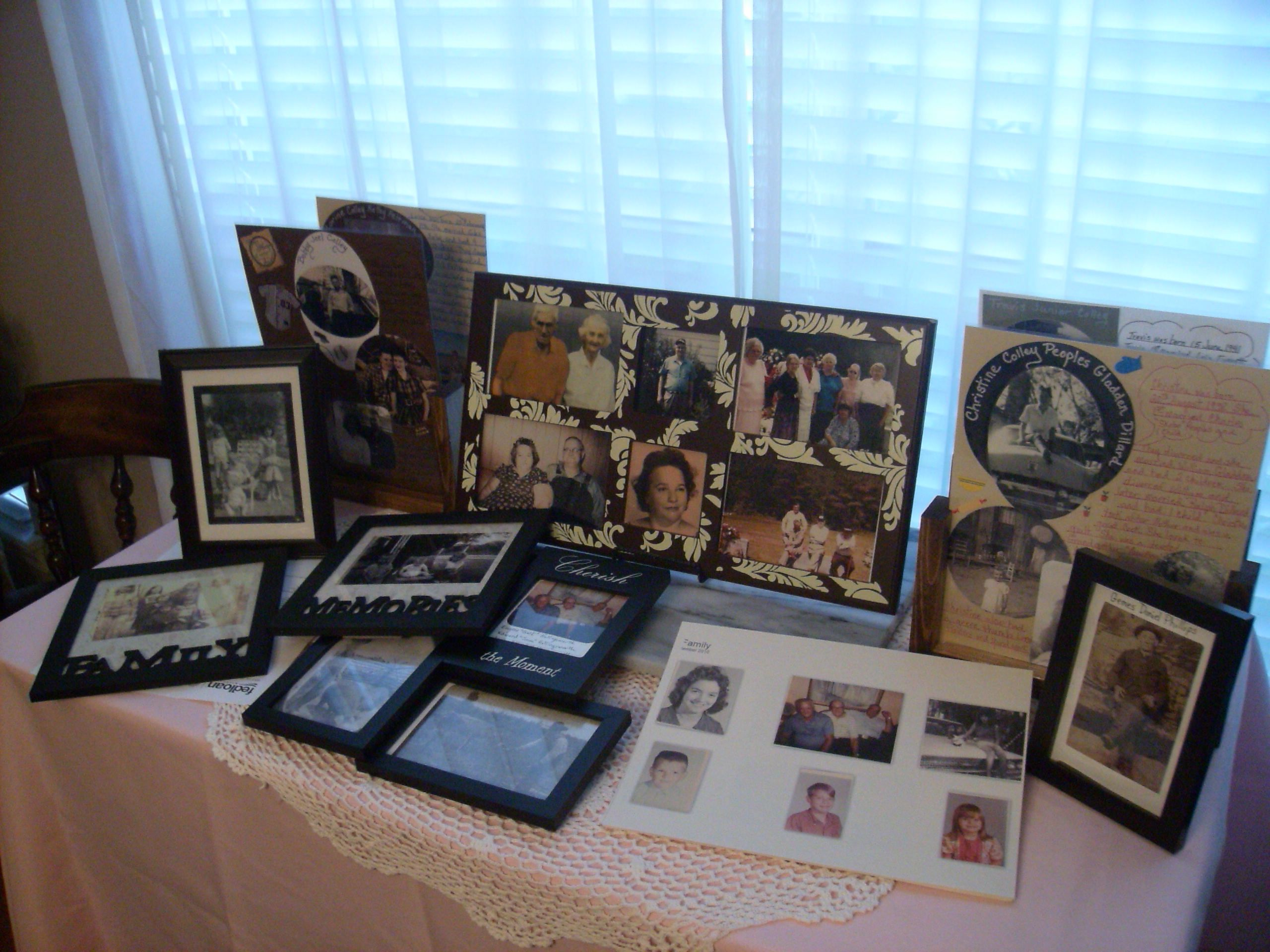 some of the photos im using for table decorations for the family reunion