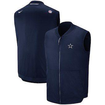Dallas Cowboys Nike Sideline Full-Zip Vest - Navy  7d88a4eed