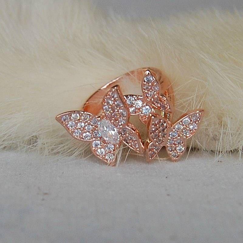 856f24ddd9dab rose gold butterflies cocktail ring by astrid & miyu ...