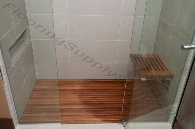 Teak Wood Mat Custom Order Teak Shower Mats Teak Bathroom