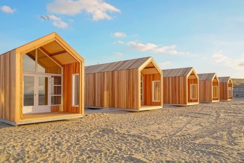 Strandhuisjes Katwijk aan Zee Strandhäuser, Strandhaus