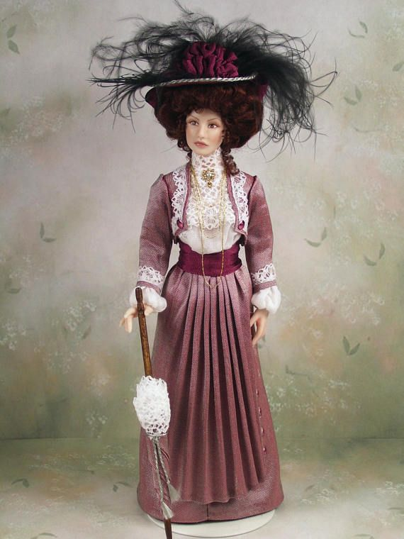 The Victorian Rose Lady Miniature Dollhouse Picture