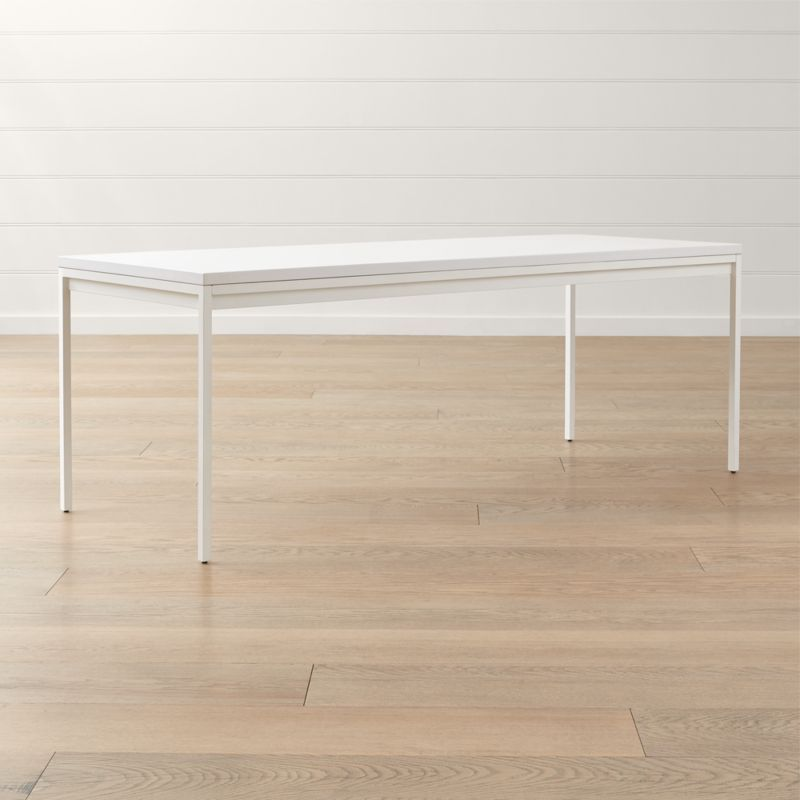 Casement White Solid Surface Dining Table Reviews Crate And Barrel With Images Dining Table Dining Room Inspiration Casement