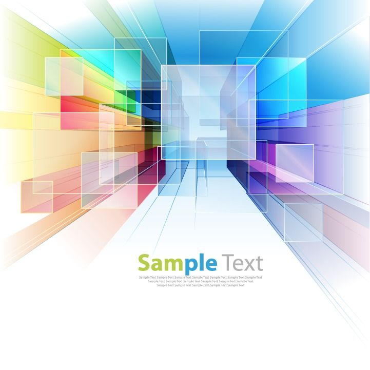 Abstract Colorful Tech Background Vector Illustration Free