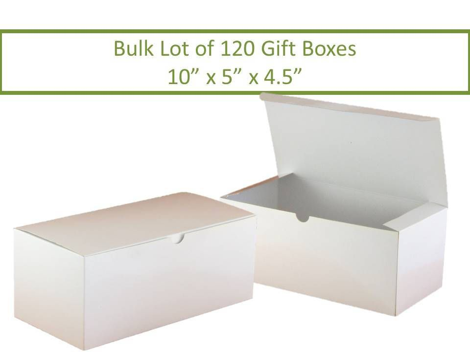 120 White Gift Boxes Wine Glass Boxes Bulk Lot 120 Boxes Glassware