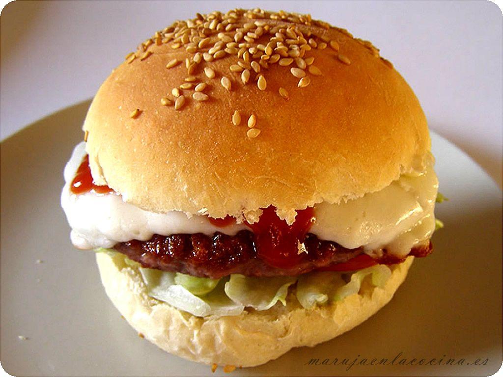 Cómo hacer pan de hamburguesa con sésamo (Thermomix)
