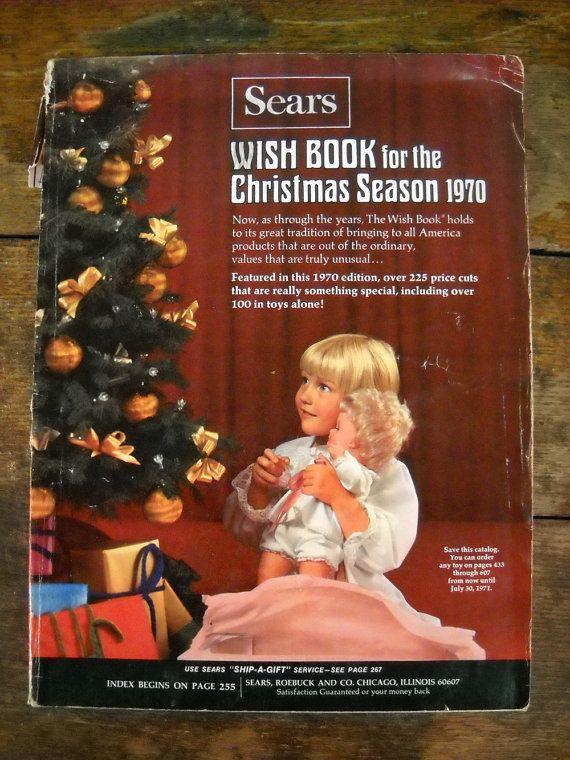 2c209b6ad22f7 Vintage 1970 Sears Christmas Wish Book - Catalog | Vintage Christmas ...