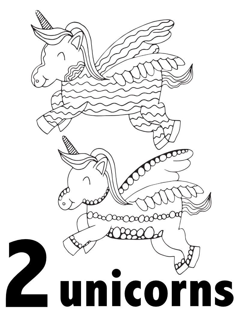Unicorn Numbers 1 10 Free Printable Pages For Preschool Kindergarten Stevie Doo Kindergarten Coloring Pages Printable Coloring Pages Unicorn Coloring Pages