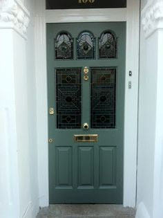 Farrow And Ball Green Smoke Victorian Front Doors Green Front Doors House Front