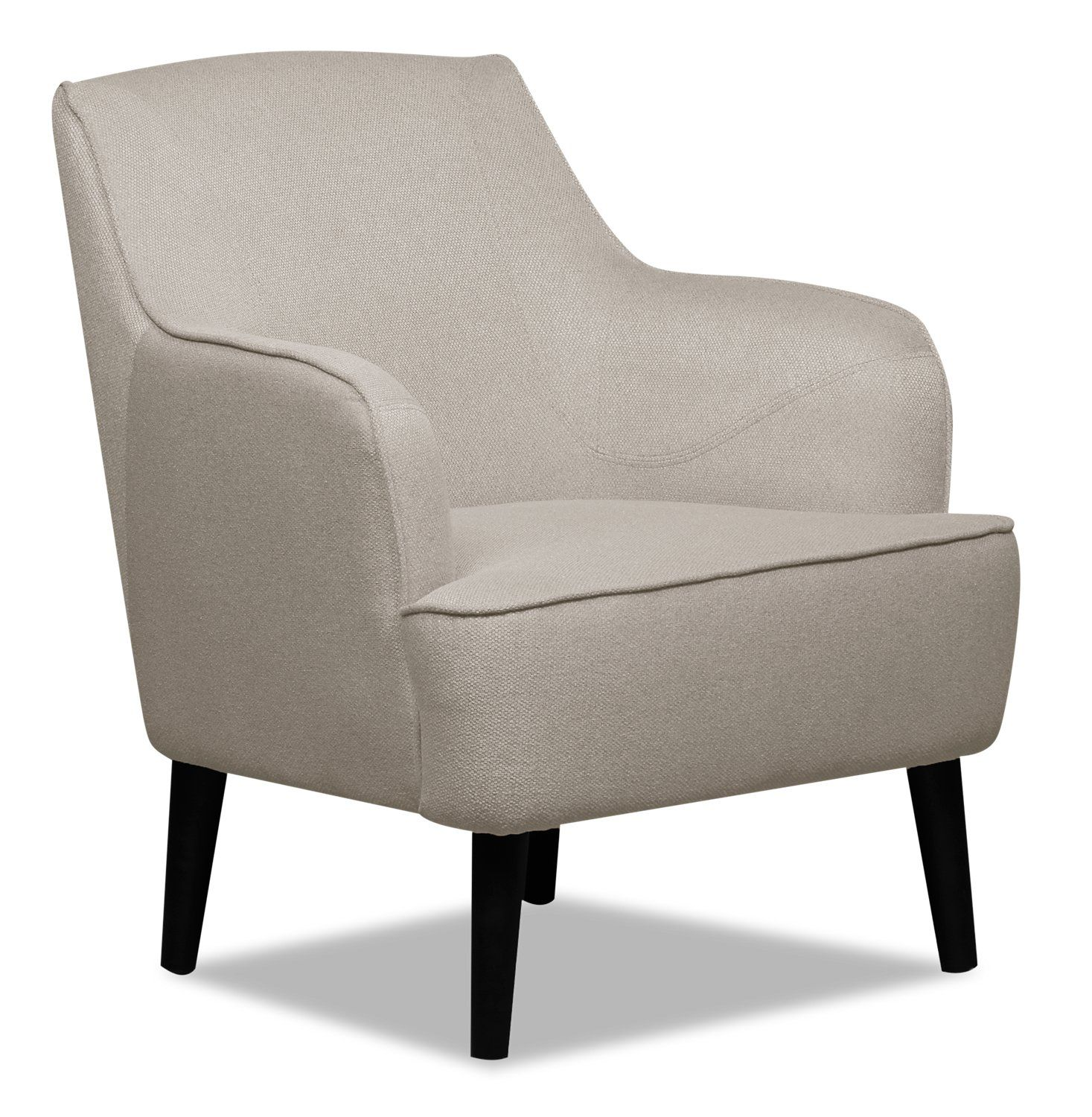 Aimy Linen Look Fabric Accent Chair Light Grey Fauteuil D
