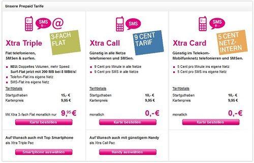 Telekom Prepaid Tarife im Überblick Sim karte, Telekom
