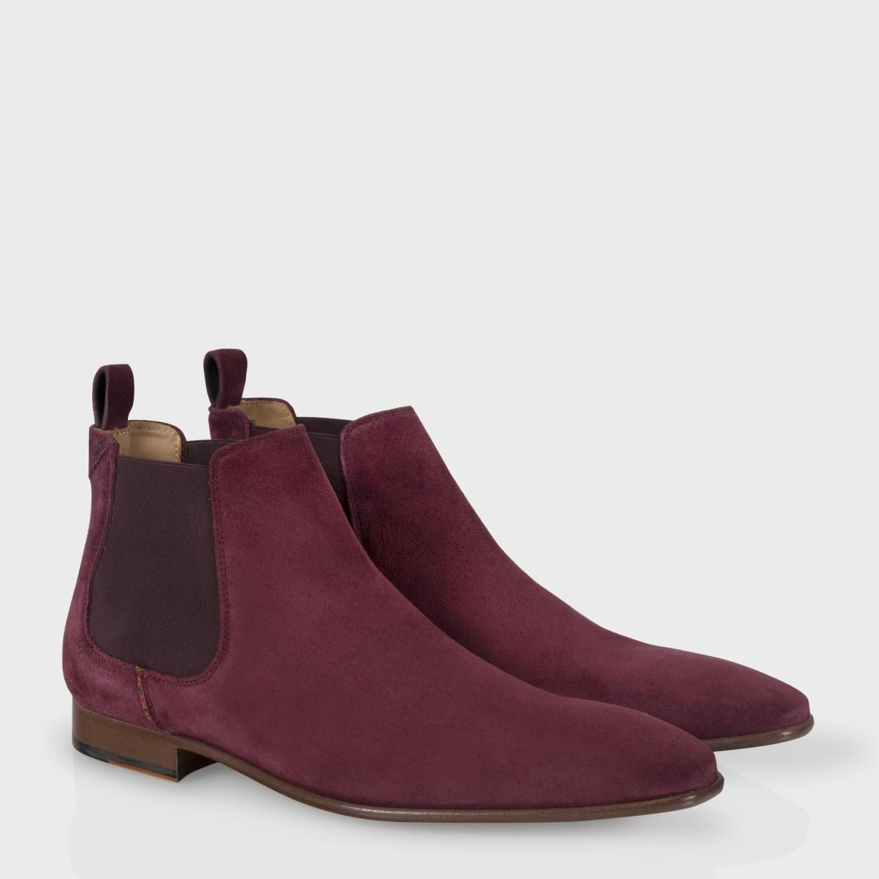 paul smith s shoes burgundy suede falconer chelsea
