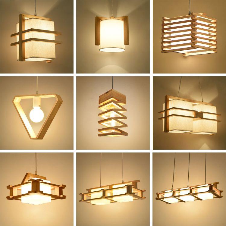 Chino minimalista colgante de piel de oveja luces original variedad - lamparas para escaleras