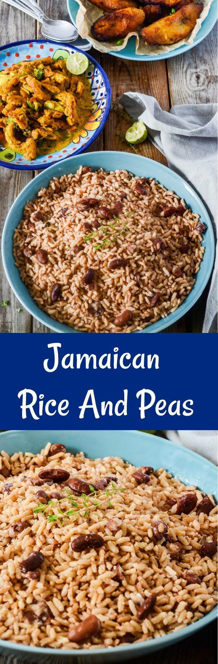 jamaican rice and peas recipe  recipes jamaican rice