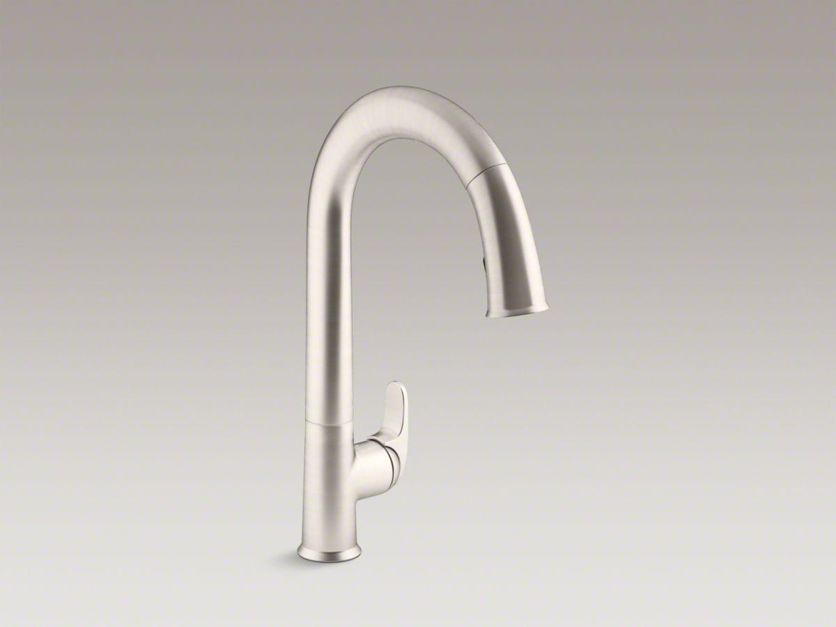 Kohler pull down faucet $675 chrome/ $800 steel | Burlingame Remodel ...