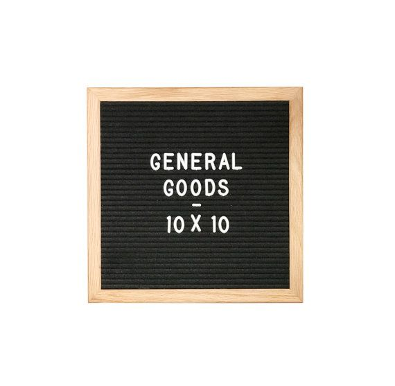 Letter Board  Letter Set With Oak Frame Black Felt X Inches