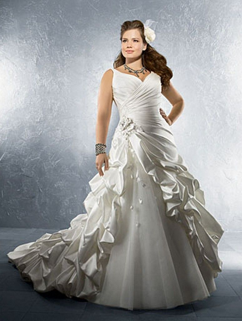 Tips to choose the perfect plus size bridal dress for Plus size silk wedding dresses