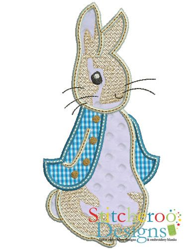 Peter Rabbit applique embroidery design. | Applique | Pinterest ...