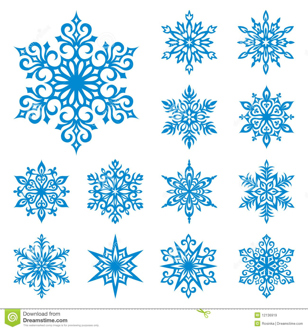 Vector Snowflakes Set Download From Over 38 Million High