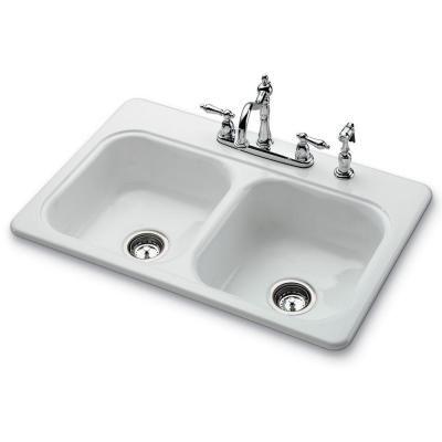 Bootz Industries Garnet Ii Top Mount Porcelain 33X22X7 4Hole Self Brilliant Sink Kitchen Inspiration