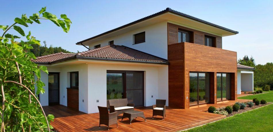 Moderne häuser walmdach  HausXXL Haus des Monats | Walmdach 208 von LUXHAUS | Haus ...