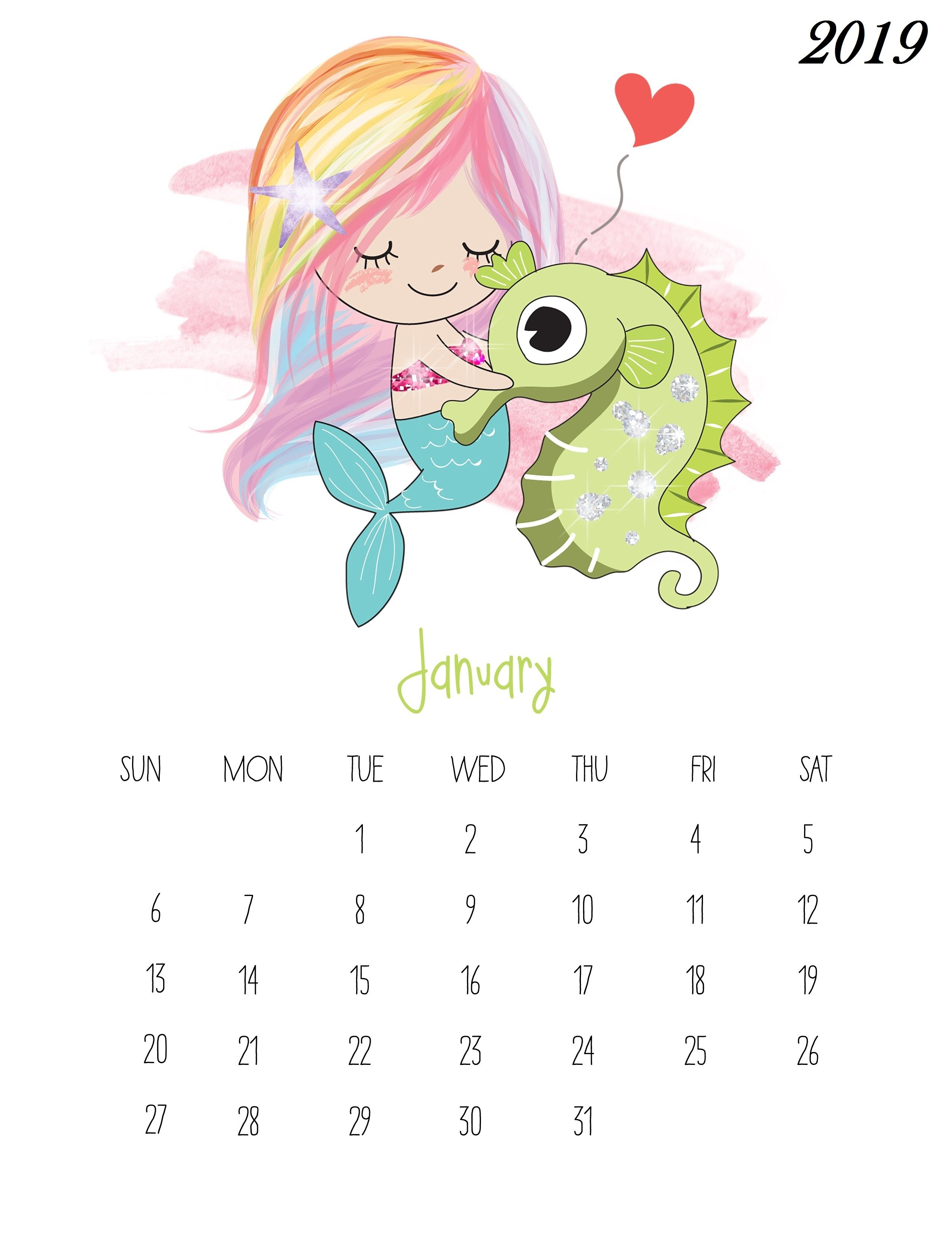 Free Printable 2019 Kids Calendarjanuary 2019 Iphone Calendar