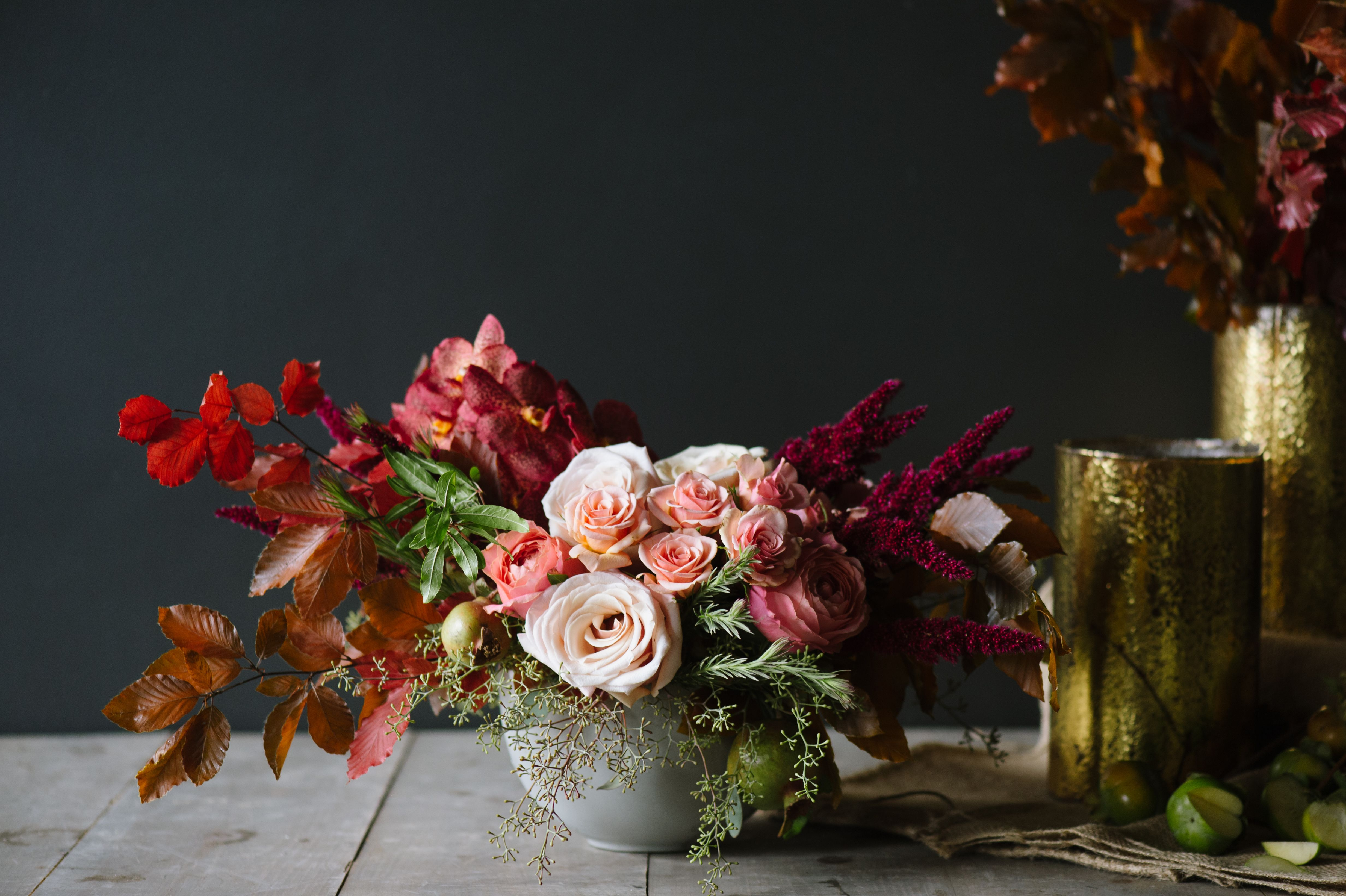 Dazzling Shades Of Burgundy Blush And Bronze Are Warm And Inviting