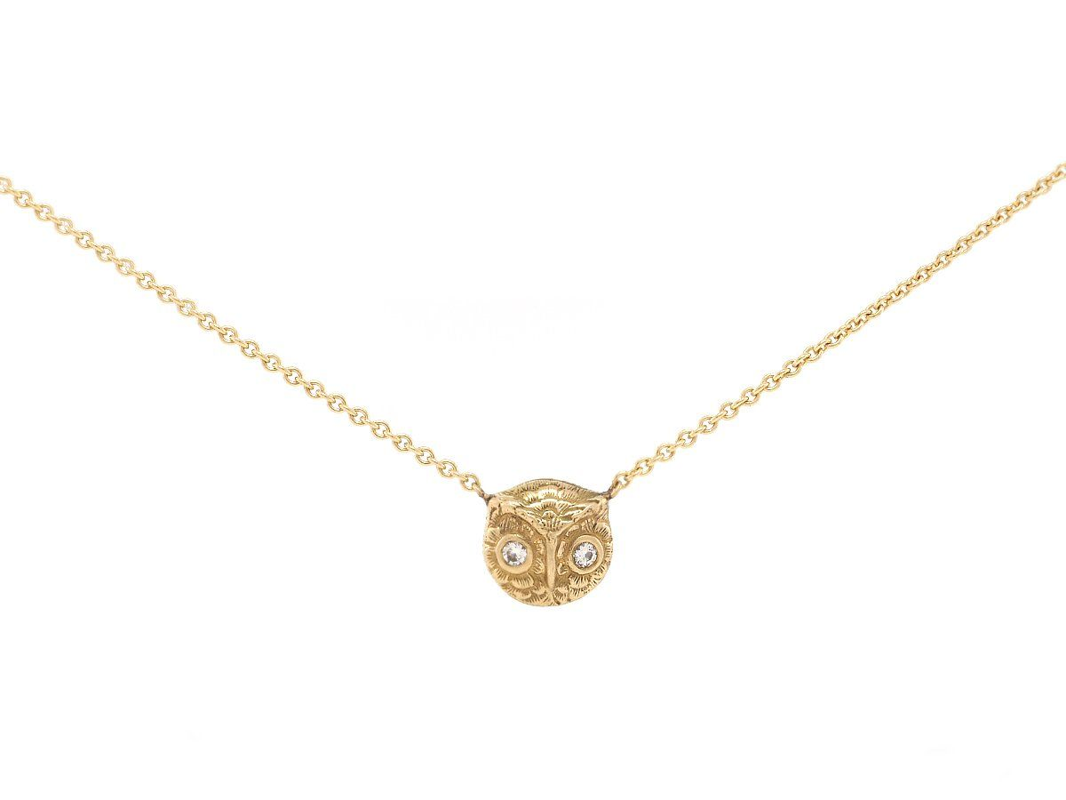 f5e5ccb338c3 Antique Baby Owl Necklace
