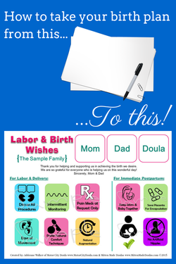 Mitten Made Doulas Visual Birth Plan Get Your Birth Plan Noticed
