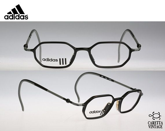 f518fd4e9c17 Adidas AS11, Vintage hexagon eyeglasses, 90s mens & women optical frame,  unique and rare / NOS