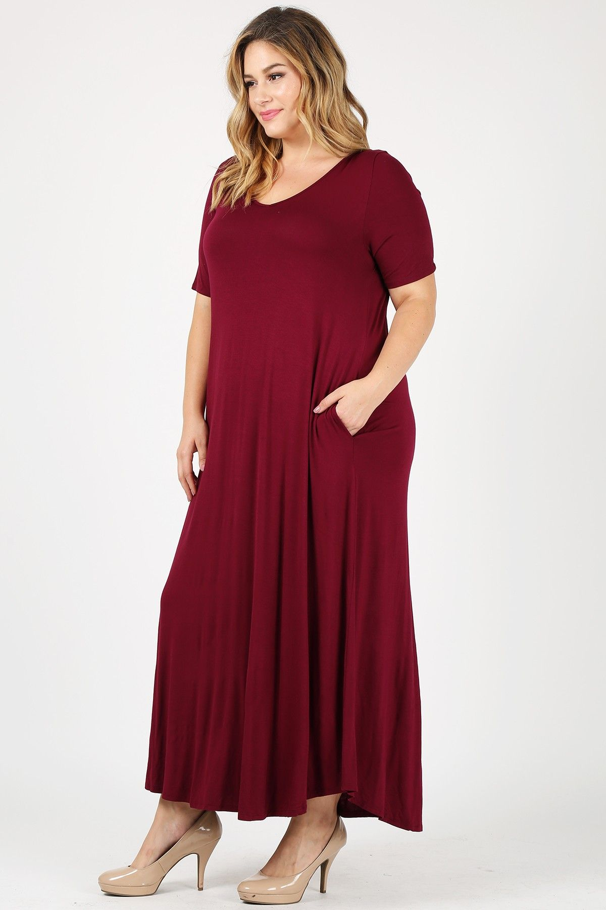 Sweet Lindsey Women Plus Size Maxi Dress With Side Pockets Long Plus Size Casual Solid Color Casual Dress Walmart Com Cheap Maxi Dresses Summer Plus Size Fashion Dresses Cheap Maxi Dresses [ 1800 x 1200 Pixel ]