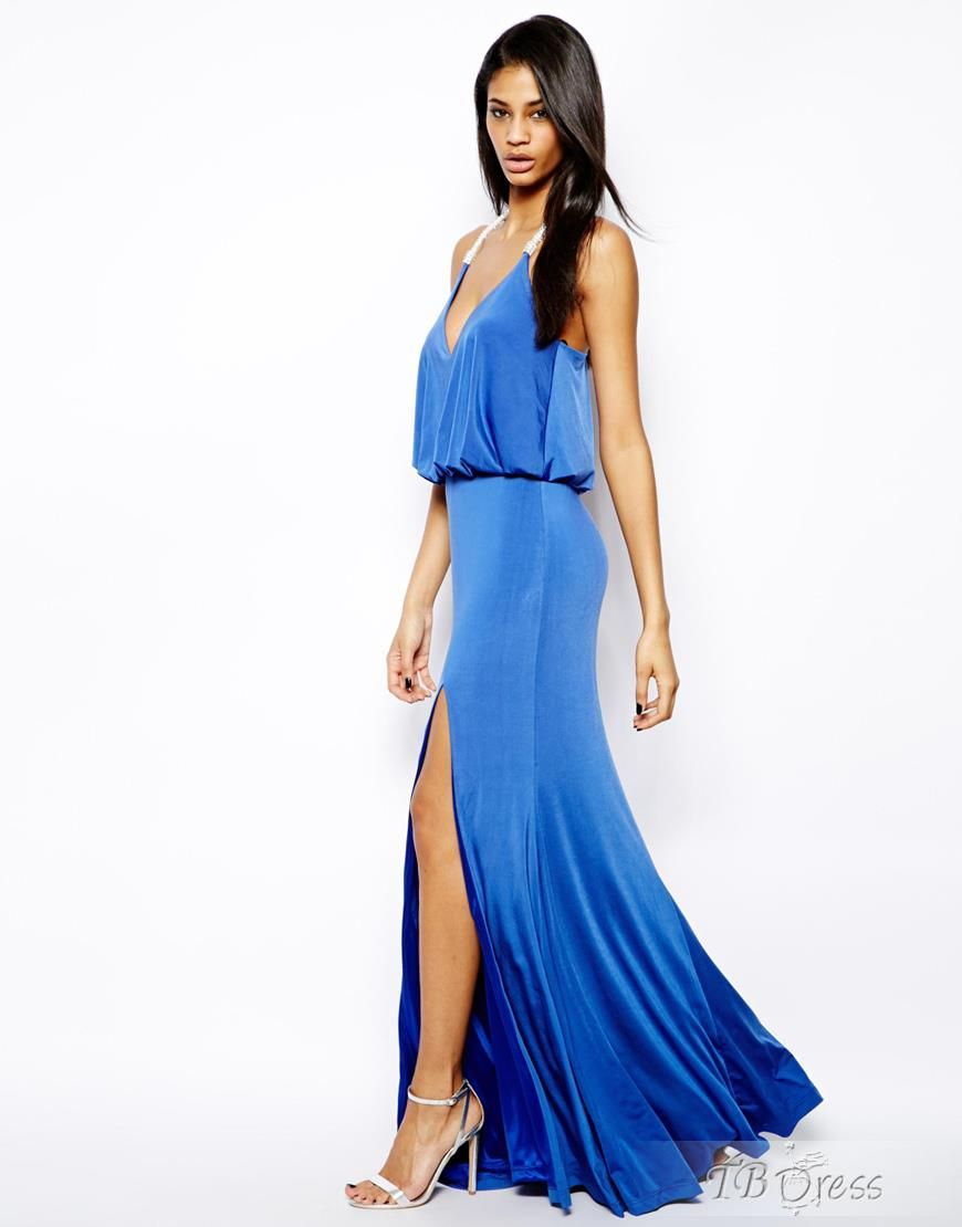Gorgeous shining sexy blue strap womenus dress razz pinterest