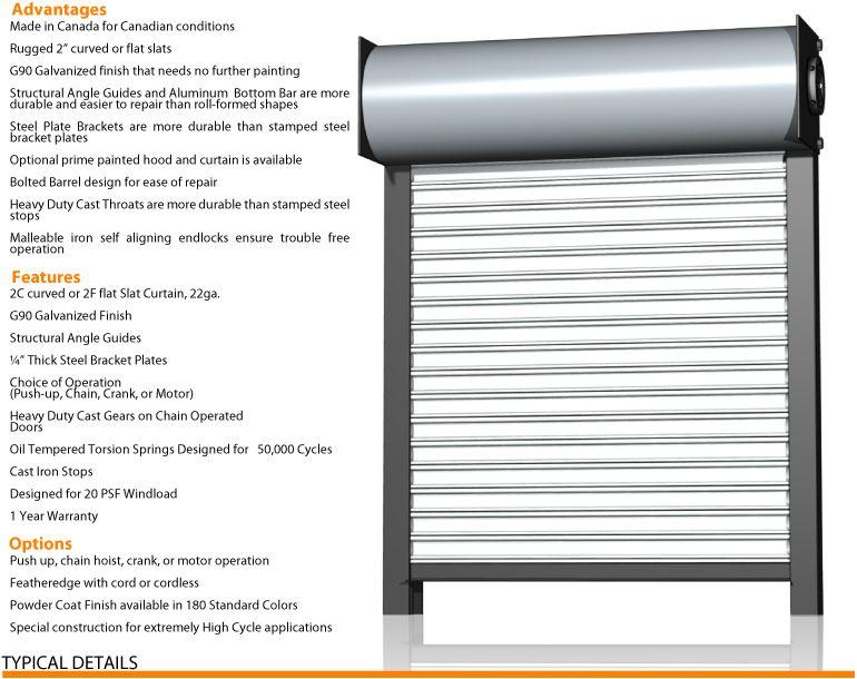 Rolling Steel Doors Wilcox Door Wilcox Rolling Door Wilcox door offers a complete line of Rolling
