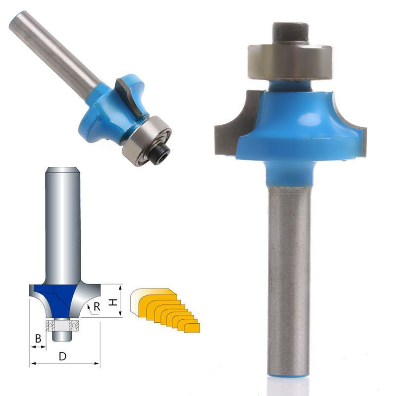 """1//4/"""" Radius Round Over Router Bit Woodworking Chisel Cutter Tool 1//4/"""" Shank"""