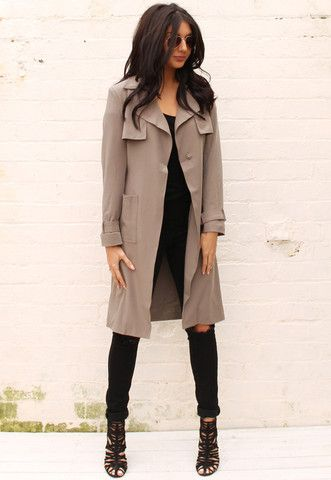 9df4ae4fa Classic Belted Trench Coat in Khaki | www.onenationclothing.com ...