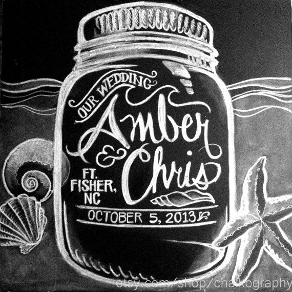 Custom Mason Jar Chalk Sign  Personalized by Chalkography on Etsy, $100.00