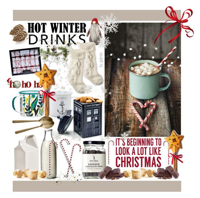 """Hot Winter Drinks"" by gabree ❤ liked on Polyvore featuring interior, interiors, interior design, дом, home decor, interior decorating, Crate and Barrel, Sockerbit, L.L.Bean и Seletti"