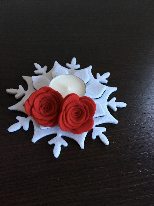 @fiocco di neve,rosa 3 D,fustelle Sizzix/Un preferito personale dal mio negozio Etsy https://www.etsy.com/it/listing/477459324/portacandele-in-feltro