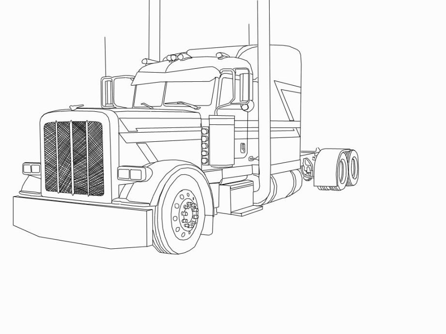 Peterbilt Coloring Pages Truck Coloring Pages Peterbilt Cars Coloring Pages