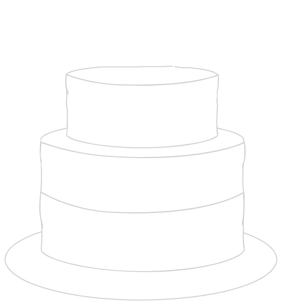 lege taart kleurplaat taart versieren kleurplaat