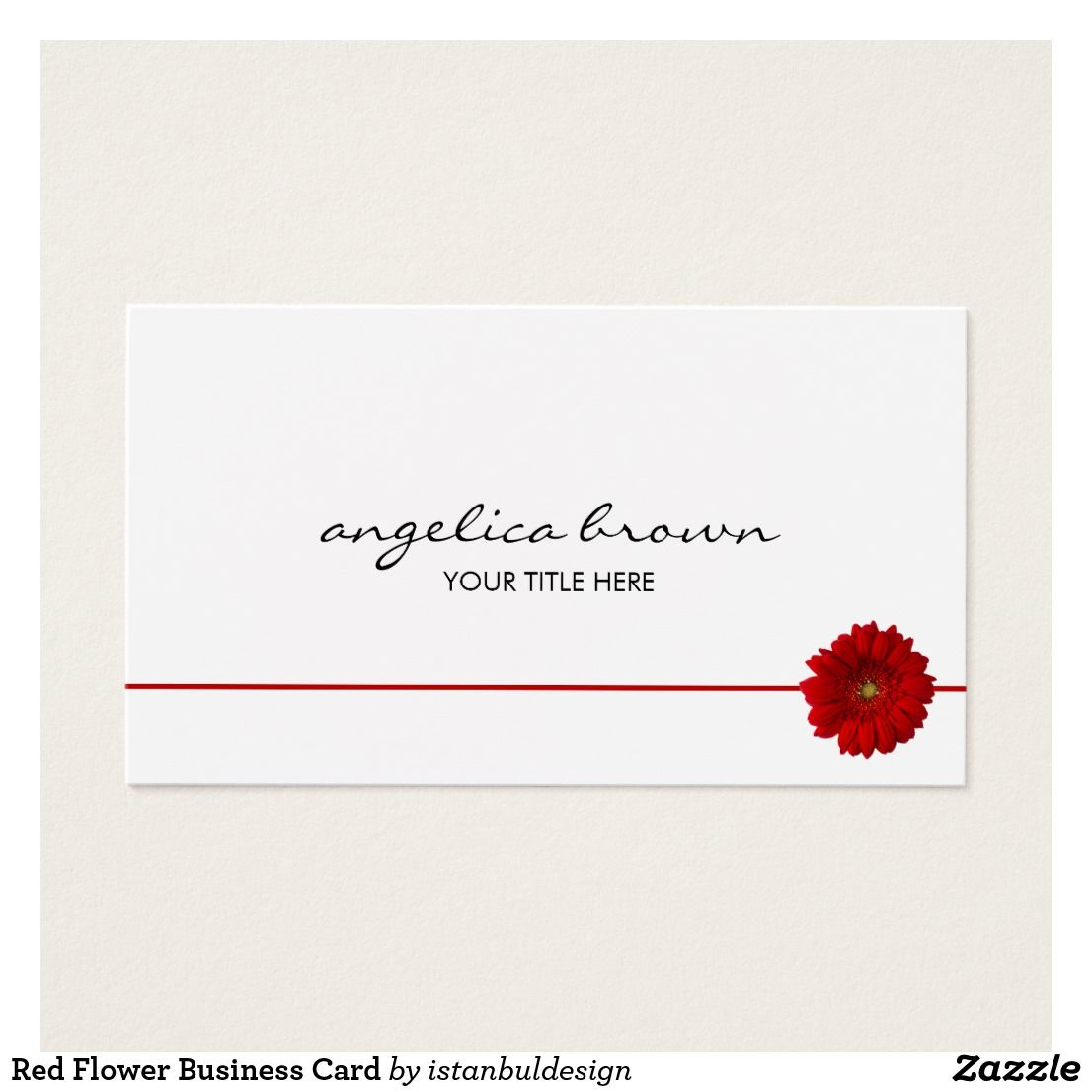 Red Flower Business Card | Personal Professional Business Cards ...