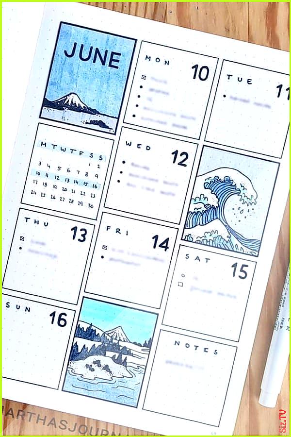 22 Super Fun Blue Bullet Journal Spreads f r 2019 22 Super Fun Blue Bullet Journal Spreads f r 2019...